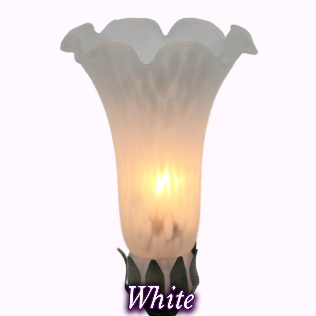 Add-On Glass Tulip Shade - White