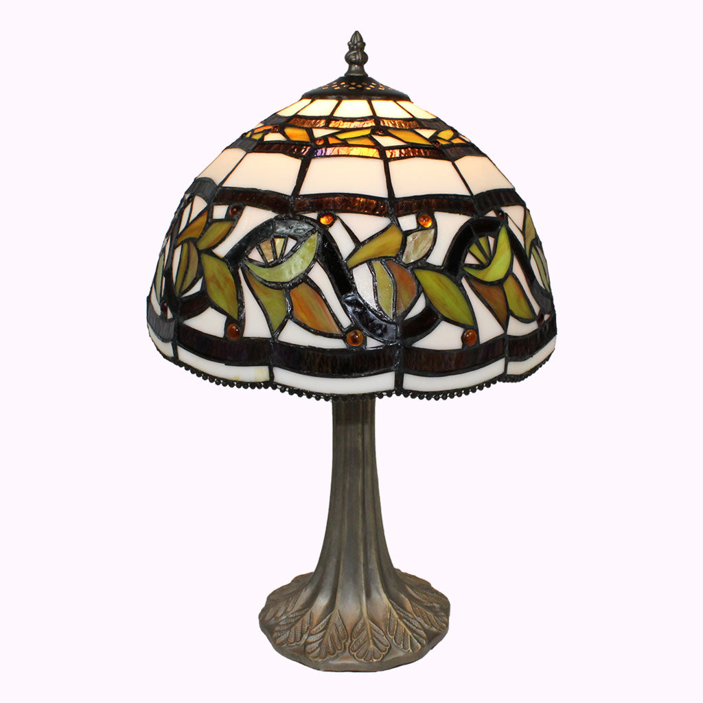 Turning Leaves Tiffany Table Lamp