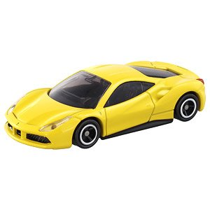 Tomica No.64 Ferrari 488 GTB - Yellow (1st edition)