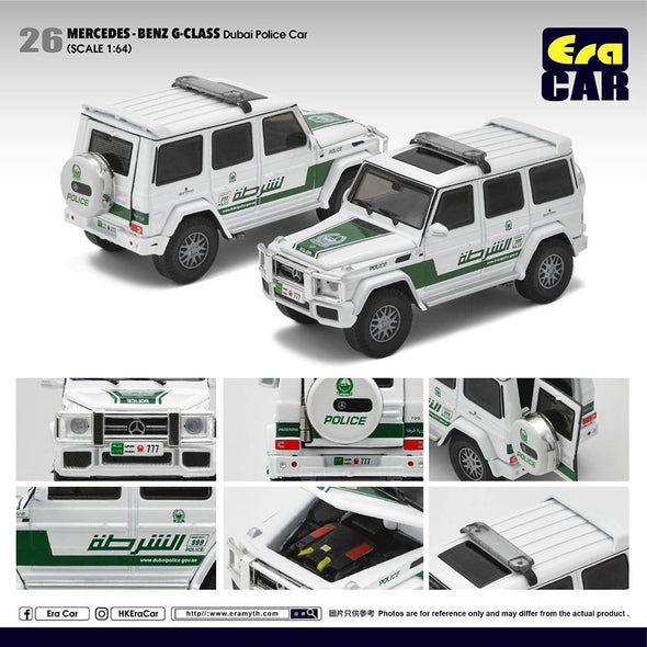 ERA CAR 26 1/64 Mercedes-Benz AMG Mercedes-Benz G Class Dubai Police Car