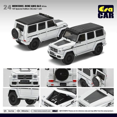 ERA CAR 24 1/64 Mercedes-Benz AMG Mercedes-Benz G63 White (1st Special Edition)
