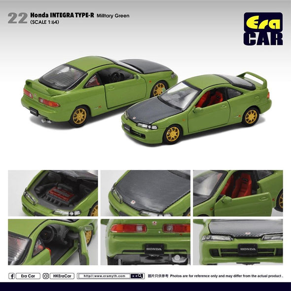 ERA CAR 22 1/64 Honda Interga Type-R DC2 (Military Green)