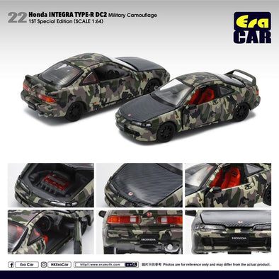 ERA CAR 22 1/64 Honda Interga Type-R DC2 (Military Camouflage) 1st Special Edition