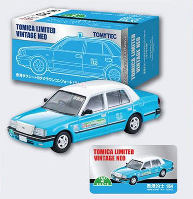 Tomica Limited Vintage Neo 1/64 Toyota Comfort Lantau Taxi Blue (Hong Kong Exclusive)