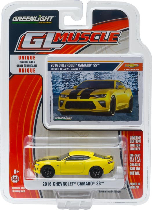 GreenLight 1/64 GL Muscle Series 16 - 2016 Chevy Camaro SS Solid Pack #13160-E