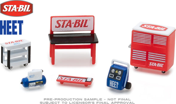GreenLight 1/64 GL Muscle Shop Tools STA-BIL & HEET (Hobby Exclusive) - #13165