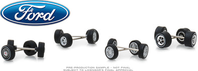 GreenLight 1/64 Ford Wheel & Tire Pack - 16 Wheels, 16 Tires, 8 Axles (Hobby Exclusive) - #13166