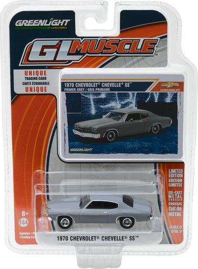 GreenLight 1/64 GreenLight Muscle Series 17 - 1970 Chevy Chevelle SS - Primer Grey Solid Pack #13170-C