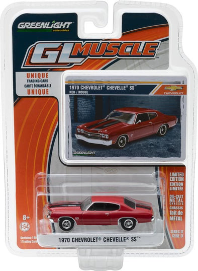 GreenLight 1/64 GreenLight Muscle Series 17 - 1970 Chevy Chevelle SS - Red Solid Pack #13170-D