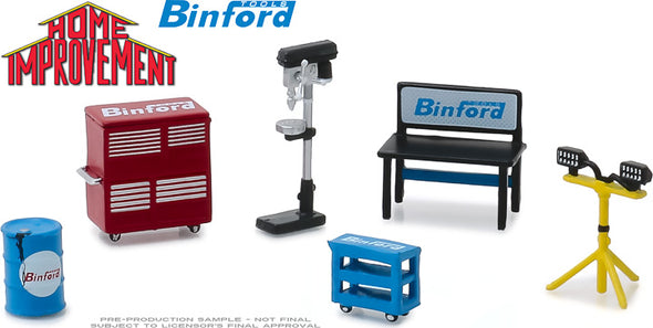 GreenLight 1/64 Home Improvement (1991-99 TV Series) Binford Tools Shop Tools (Hobby Exclusive) - #13175