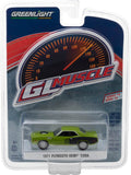 GreenLight 1/64 GreenLight Muscle Series 18 - 1971 Plymouth Barracuda - Sassy Grass Green Solid Pack #13180-B