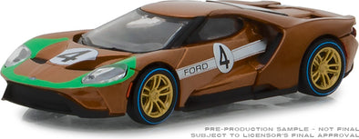 GreenLight 1/64 Ford Racing Heritage Series 2 - 2017 Ford GT 1966 #4 Ford GT40 Mk II Tribute Solid Pack #13220-A