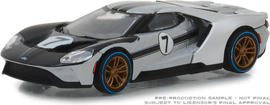 GreenLight 1/64 Ford Racing Heritage Series 2 - 2017 Ford GT 1966 #7 Ford GT40 Mk II Tribute Solid Pack  #13220-B