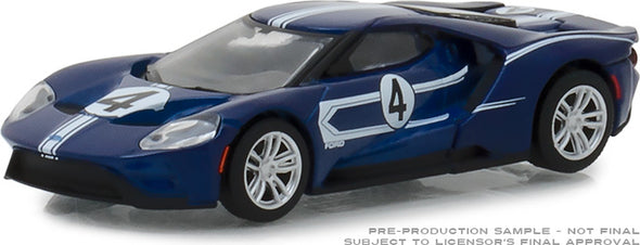 GreenLight 1/64 Ford Racing Heritage Series 2 - 2017 Ford GT 1967 #4 Ford GT40 Mk.IV Tribute Solid Pack  #13220-C
