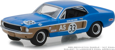 GreenLight 1/64 Ford Racing Heritage Series 2 - 1968 Ford Mustang #33 John McComb Trans-Am Continental Divide Solid Pack #13220-E