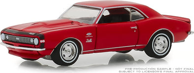 GreenLight 1/64 GreenLight Muscle Series 21 - 1967 Chevrolet Yenko Camaro - Rally Red Solid Pack #13230-A