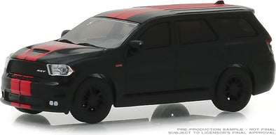 GreenLight 1/64 GreenLight Muscle Series 21 - 2018 Dodge Durango SRT - Diamond Black with Red Stripes Solid Pack #13230-F