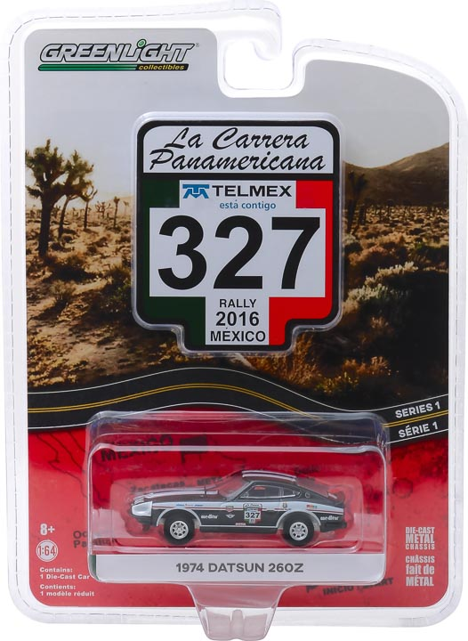 GreenLight 1/64 La Carrera Panamericana 1 - 327 1974 Datsun 260Z Solid Pack #13240-E