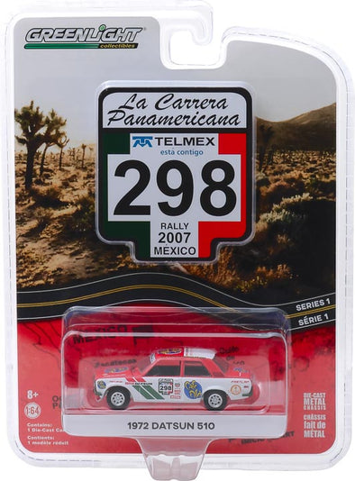 GreenLight 1/64 La Carrera Panamericana 1 - 298 1972 Datsun 510 Solid Pack #13240-F