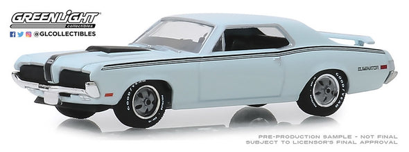 GreenLight 1/64 GL Muscle Series 22 - 1970 Mercury Cougar Eliminator in Pastel Blue #13250-C
