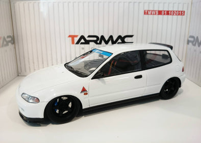 Tarmac Works 1/18 Honda Civic EG6 tuned by Spoon - Plain White - T01-PW