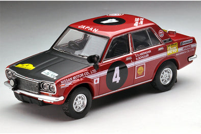 Tomica Limited Vintage Neo x Nostalgic Hero Vol.1 1/64 Nissan Bulebird 510 1600SSS #4 - 1970 Safari Rally Winner