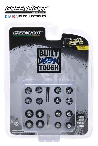 GreenLight 1/64 Wheel Tire Packs 1 - Ford Trucks  #16010-B