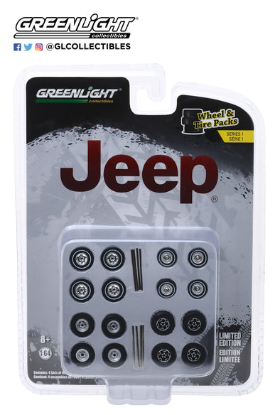 GreenLight 1/64 Wheel Tire Packs 1 - Jeep  #16010-C