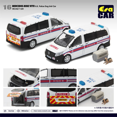 ERA CAR #016 Mercedes-Benz Vito H.K. Police Dog Unit Car 香港警察警犬隊巡邏車