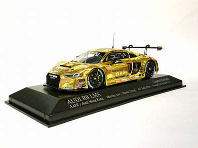 Tarmac Works x Minichamps 1/43  Audi R8 LMS GT Asia 2016 2nd Place Overall - Gold AAPE