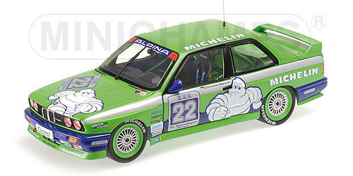 Minichamps 1/18 BMW M3 - TEAM ALPINA - CHRISTIAN DANNER - DOUBLE WINNER HOCKENHEIM DTM 1988 - 180872022