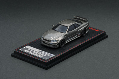 IGNITION MODELS 1/64 Nismo R34 Z-tune Omori Factory CRS Dark Gray Metallic - IG1880