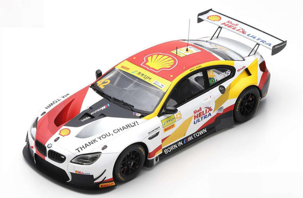 Spark 1/18 BMW M6 GT3 NO.42 BMW TEAM SCHNITZER WINNER FIA GT WORLD CUP MACAU 2018 AUGUSTO FARFUS #18MC18