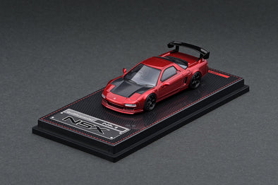 IGNITION MODELS 1/64 Honda NSX (NA1) Red Metallic TE37, Black, carbon bonnet, GT Wing - IG1944