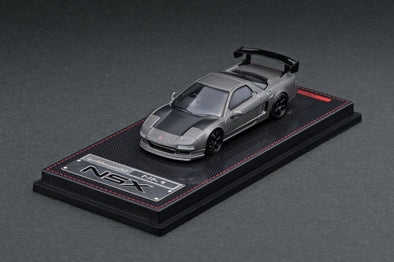 IGNITION MODELS 1/64 Honda NSX (NA1) Titanium Gray TE37, Black, carbon bonnet, GT Wing - IG1946
