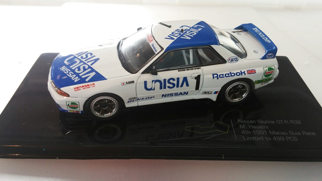 Premium X 1/43 Nissan Skyline GT-R R32 4th 1991 Macau Guia Race 1991年澳門東望洋第四位 - M. Hasemi 長谷見昌弘 - Macau Grand Prix Collection