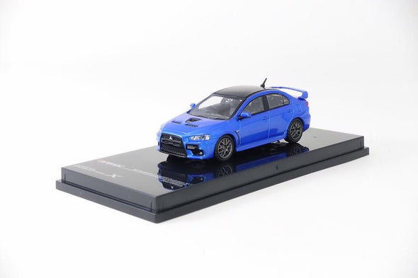 Tarmac Works Hobby64 Mitsubishi Lancer Evolution X Final Edition Octane Blue - T64-004-BL