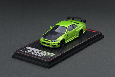 IGNITION MODELS 1/64 Nismo R34 GT-R Z-tune Green Metallic - IG2126