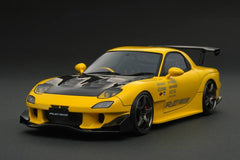 Ignition Models 1/18 MAZDA RX-7 (FD3S) RE Amemiya Yellow (EN-Wheel)  - IG1048