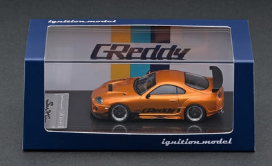 IGNITION MODELS 1/64 Toyota Supra (JZA80) RZ Orange Metallic  GReddy Ver.- IG2238