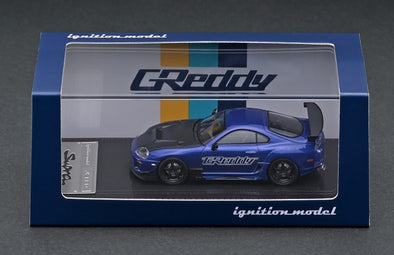 IGNITION MODELS 1/64 Toyota Supra (JZA80) RZ Blue Metallic  GReddy Ver. - IG2239