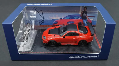 IGNITION MODELS 1/64 Toyota Supra (JZA80) RZ Red With Mr. Orido - IG2240