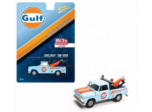 *Limit to ONE per person* Jonny Lighting x Mijo 1/64 1965 Chevrolet Tow Truck, Gulf