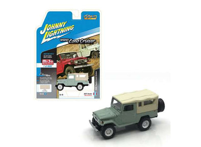 Johnny Lightning x Mijo 1/64 1980 Toyota Land Cruiser, green/cream