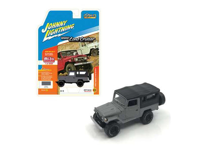 Johnny Lightning x Mijo 1/64 1980 Toyota Land Cruiser, grey/dark grey