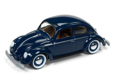 Johnny Lightning 1/64 1950 Volkswagen Beetle Split Window, dark blue