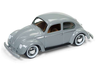 Johnny Lightning 1/64 1950 Volkswagen Beetle Split Window, pearl grey