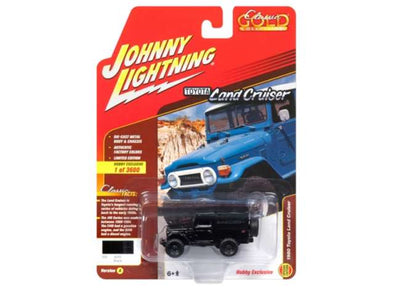 Johnny Lightning 1/64 1980 Toyota Land Cruiser, black with grey top