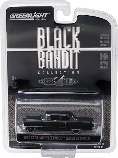 GreenLight 1/64 Black Bandit Series 15 - 1955 Cadillac Fleetwood Series 60 Special Solid Pack - #27860-A