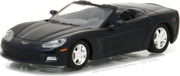 GreenLight 1/64 General Motors Collection Series 2 - 2013 Chevrolet Corvette Convertible - Night Race Blue Solid Pack - #27875-B